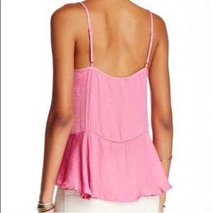 Free People | Pink Dobby Dot Tank